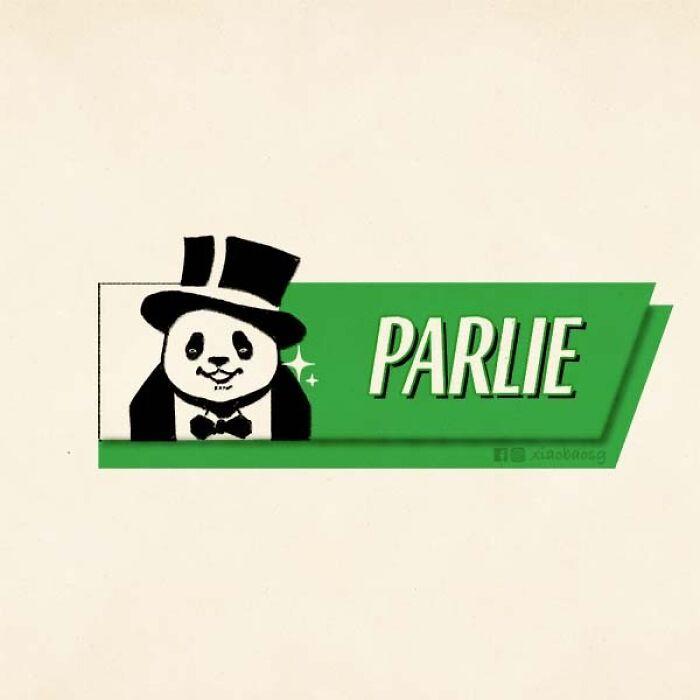 panda on logos