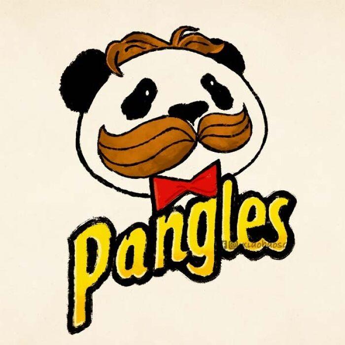 panda on pringles