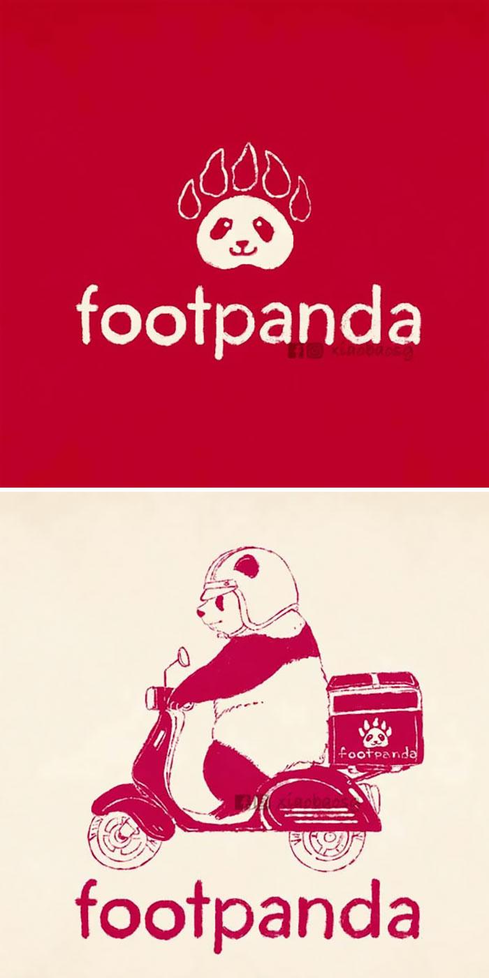 panda on famous logos