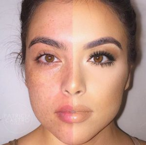 the difference a makeup can make