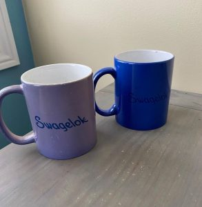 Both mugs were purchased on the same day three years ago and had the same design.