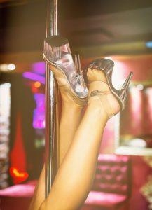 woman's interview at stripper club