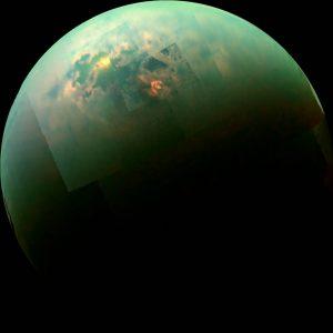 The methane sea of the titan moon.