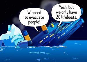 no lifeboats