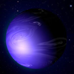 A glass rain planet.