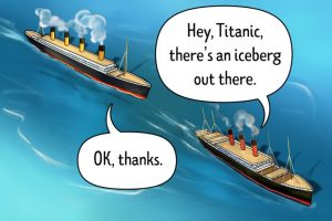 titanic will receive warnings