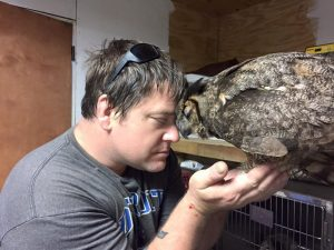the man that saved the owl from an accident