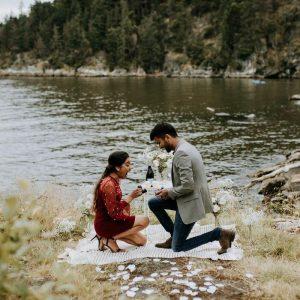 beautiful proposal scene