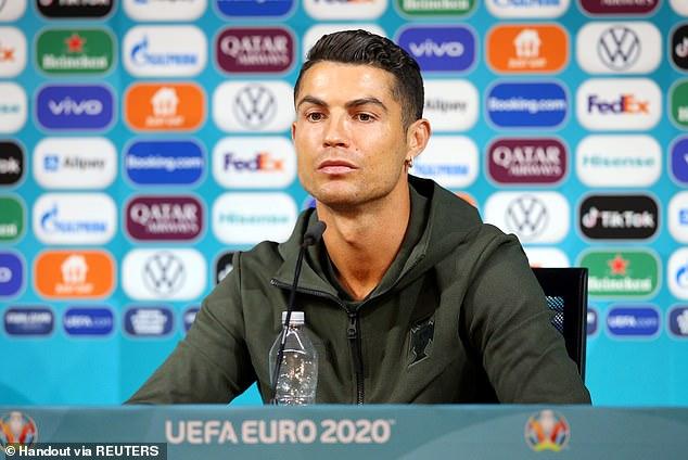 Cristiano Ronaldo Denies Coca-Cola At Euro 2020 News Conference