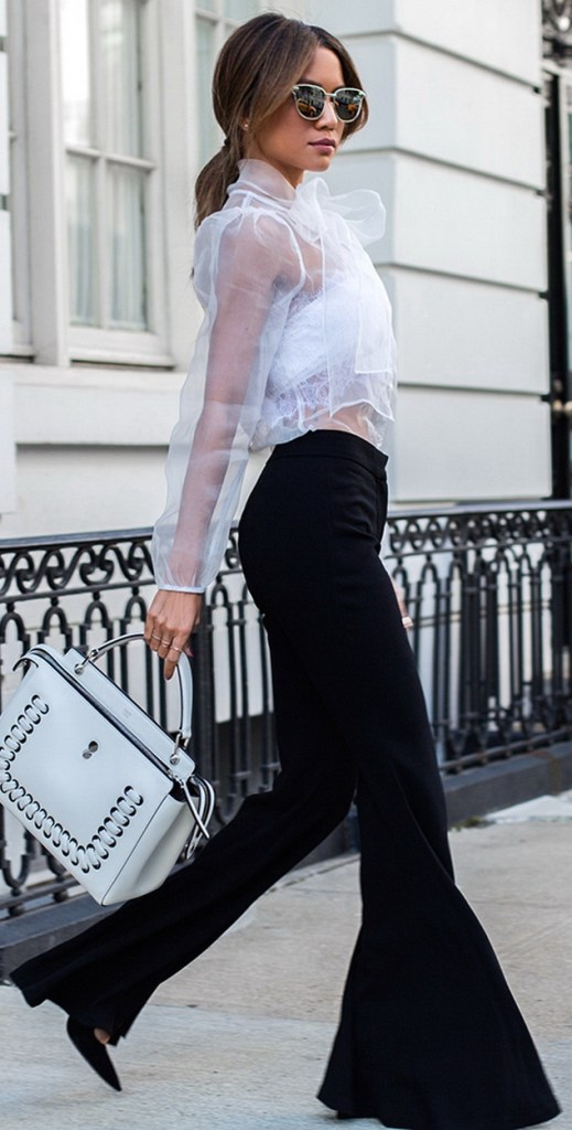 How To Wear See Through Blouse For Work?