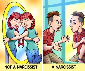 Narcissists adore themselves.