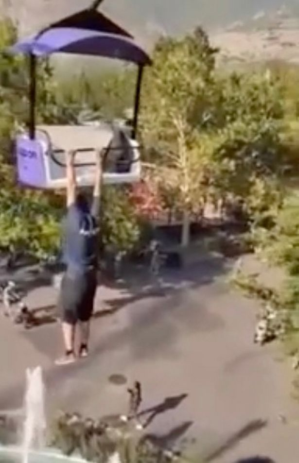 A man who filmed himself hanging out in a theme park falls 50 feet in front and dies.
