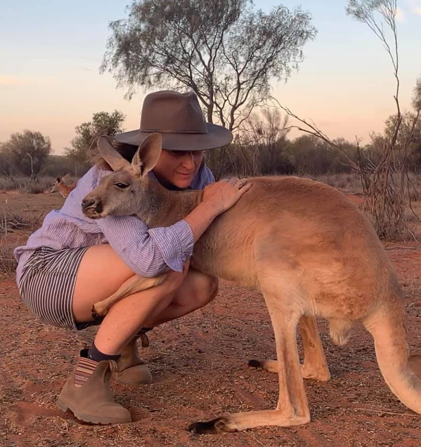 Rescued Kangaroo Loves To Hug The Rescuers Who Saved Her Life