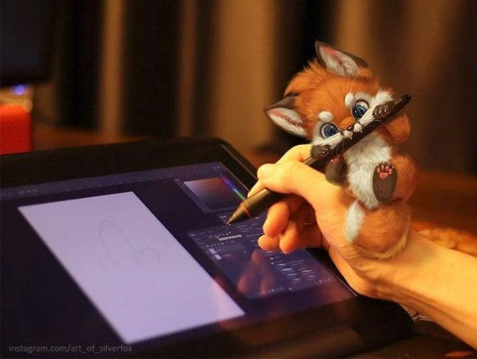 The artist draws the most attractive-looking animals and pretends they are living in reality.