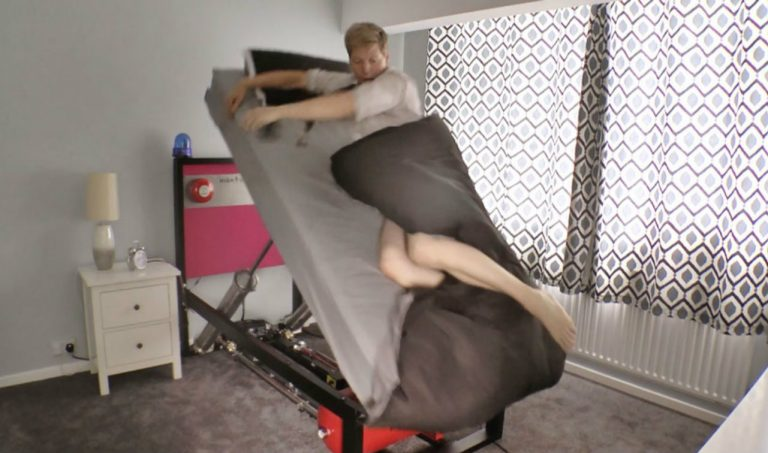 If you are unable to wake up on time, you may need this ejector bed.