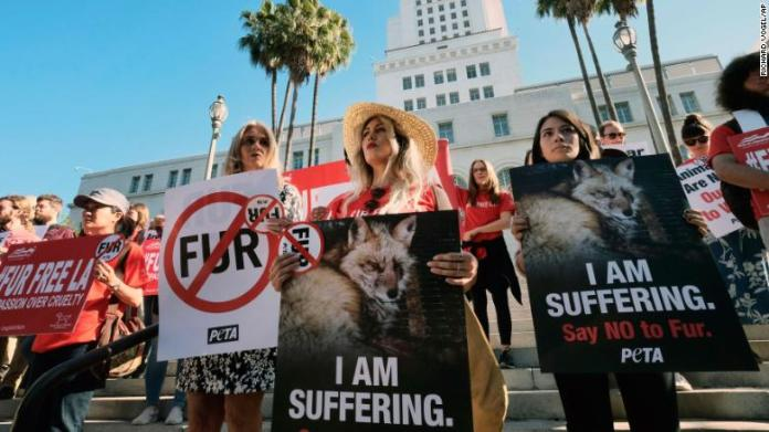 California becomes the first U.S. state to ban the sale of animal fur products.