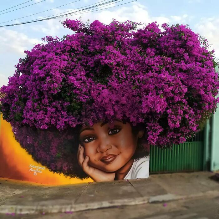 The Brazilian artist went viral by using trees as 'hair' for his female photographs.