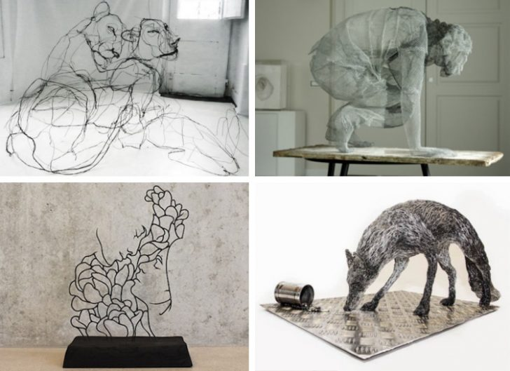 These Spin-Wire Sculptures Are Inspiring Your Eye Will Be Drawn to Art
